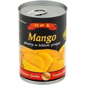 Манго консервовані в сиропі скибочками в ж/б M&K (Польща), 425г
