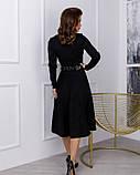 Чорне замшеве приталене плаття класичного крою (S M L XL) S, фото 3