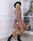Бежевое замшевое приталенное платье (S M L XL) Платья, Craze fashion, Эко-замша, M, 59% полиэстер, 21% XL, фото 2