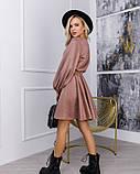 Бежевое замшевое приталенное платье (S M L XL) Платья, Craze fashion, Эко-замша, M, 59% полиэстер, 21% XL, фото 3