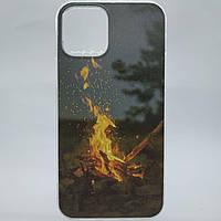 Чехол на Айфон 11 Apple iPhone огонь костер и природа 11 full fashion limited