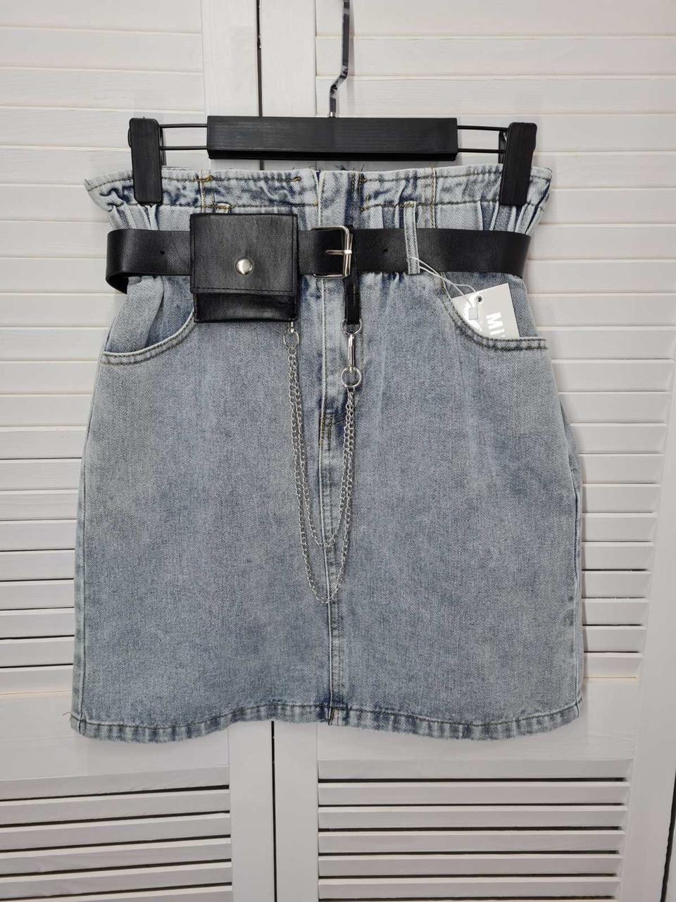 Коротка джинсова спідниця 3987 (АХ)