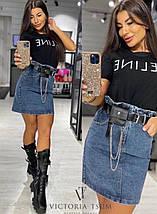 Коротка джинсова спідниця 3987 (АХ), фото 3