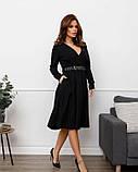 Черное платье с декольте на запах (S M L XL), фото 2