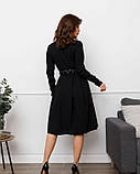 Черное платье с декольте на запах (S M L XL), фото 3