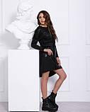 Тепле чорне плаття з напиленням (S M L XL), фото 2