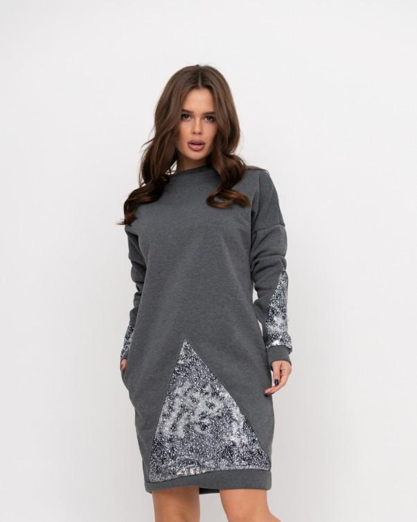 Платья  11193  M серый