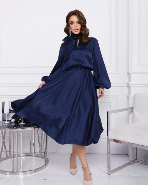 Платья  12380  S синий