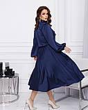 Платья  12380  S синий, фото 2