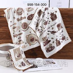 Кухонное полотенце Кофе микрофибра 12шт 35х70