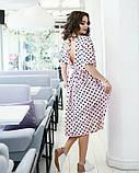 Рожеве плаття в горошок з відкритою спиною, фото 2