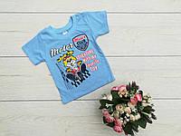 """Дитяча футболка """"Собачка"""" зростання 74-80-86-92-98 см"""