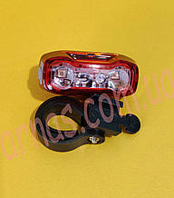 Фонарь велосипедный задний свет стоп HY-288 на батарейках