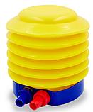 Насос ножной для фитбола FI-5654  синий-желтый, фото 4