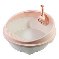 Туалет круглый для кошек с лопаткой Taotaopets 221115 494522cm Pink 5523-17756, КОД: 2404567