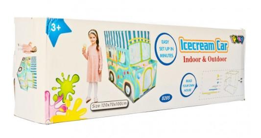 Детская игровая палатка в виде машинки с мороженым