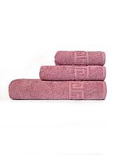 Отельные полотенца т. розовый