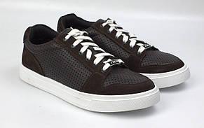 Летние коричневые кроссовки кожаные сникерсы обувь с перфорацией Rosso Avangard Nice Brown Floto Perf EVA