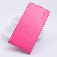 Чехол флип для Alcatel One Touch 4009D розовый