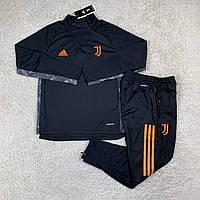 Тренировочный костюм Ювентус/Juventus ( Италия, Серия А ), черный, сезон 2020-2021