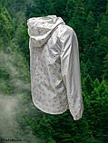 """Вітрівка-дощовик великих розмірів з квітковим принтом """"Шері"""", фото 3"""