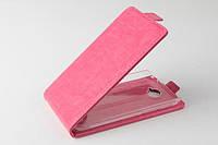 Чехол флип для Alcatel One Touch 7041D POP C7 розовый