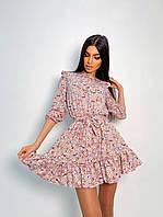 Женское милое цветочное платье с оборками (8 цветов), фото 1