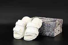 Женские босоножки сандали Dior D-Wander Slide. Белые