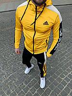 Мужской спортивный костюм Adidas Адидас Черный. Весенний спортивный костюм Adidas.Спортивний костюм Adidas