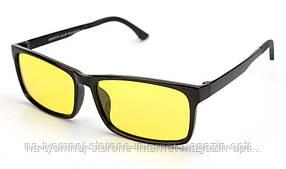 Антифары (очки для вождения, рыбалки) Graffito GR3190 Черный (желтые линзы)