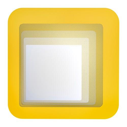 Зеркало Ikea  hilke желтое