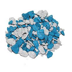 Декоративний щебінь ZRостай Мікс Білий-Блакитний 20 кг S6039