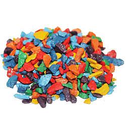 Декоративный щебень ZRостай Микс Радуга 20 кг (июнь, Помар, желтый, зеленый, голубой, синий фиол) S6037