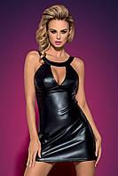 Эффектное черное платье под кожу Obsessive Darksy dress