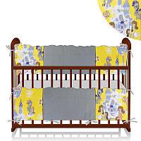 "Защитный борт на кроватку ТМ Беби-Текс ""Единорог и замок"" (ЗД-4 34034) Желтый"