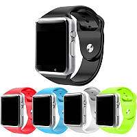 Сенсорные смарт часы А1 Часы телефон Smart Watch A1 со слотом под SIM карту Умные часы черные