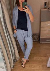 Женский костюм лен пиджак и брюки