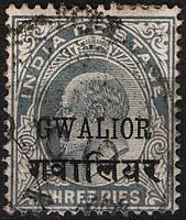 Британская Индия 1903 Gwailor