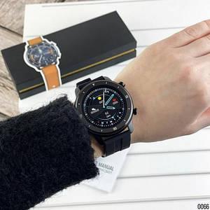 Розумні смарт годинник Smart watch Modfit MT2 All Black Silicone.Чоловічий наручний годинник з сенсорним