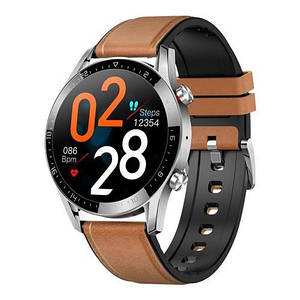 Розумні смарт годинник Smart watch Modfit GT05 Brown-Silver .Розумні сенсорні годинник .Електронні чоловічі