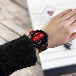 Розумні смарт годинник Smart watch Modfit MT16 Black-Red .Сенсорні наручний годинник