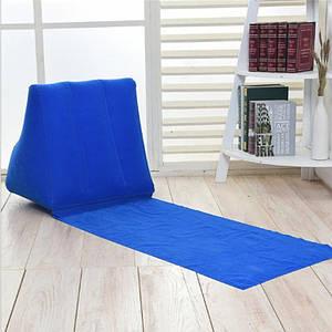 Раскладной Шезлонг с надувной спинкой пляжное, садовое 138х48х48см Шезлонг для отдыха