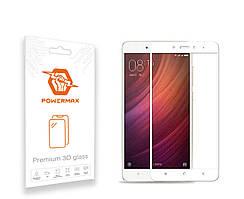 Захисне скло Powermax 3D Premium Xiaomi Redmi Note 4X White (PWRMX3DXRN4XW)