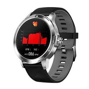 Розумні смарт годинник Smart watch .Modfit K15 Black-Silver Silicone Годинник з сенсорним екраном