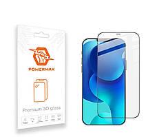 Захисне скло Powermax 3D Premium Apple iPhone 12, iPhone 12 Pro Black (PWRMX3DIPH12B)