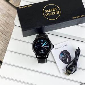 Розумні смарт годинник Smart watch Modfit K15 All Black .Сенсорні наручні годинники електронні