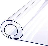 Мягкое Стекло на стол Прозрачная Силиконовая Скатерть Клеёнка Crustal ширина 80 см толщина 0,8 мм на метраж