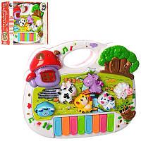 Пианино детское игрушечное Енотка CY-6073B,рус.язык,музыкальное пианино
