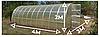 Теплица «Омега» 3 × 4  усиленная из оцинкованного омега профиля с пленкой 120 мкм