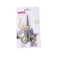 Ножницы Kamille универсальные 14см из нержавеющей стали с пластиковыми ручками KM-5181